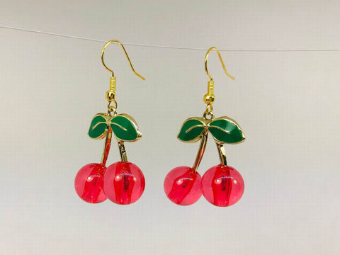 red cherry earrings gift