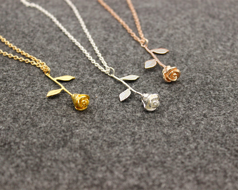 12pcs Wholesale Rose Necklace Beauty And The Beast Bracelet Bridesmaid Gift