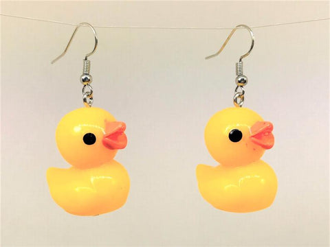 rubber duck earrings funky novelty gift