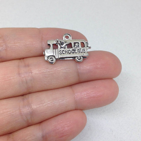 10 School Bus Charms