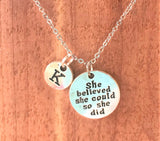 She Believed She Could Charm Personalized Necklace