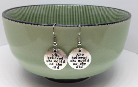 She Believed She Could Charm Earrings