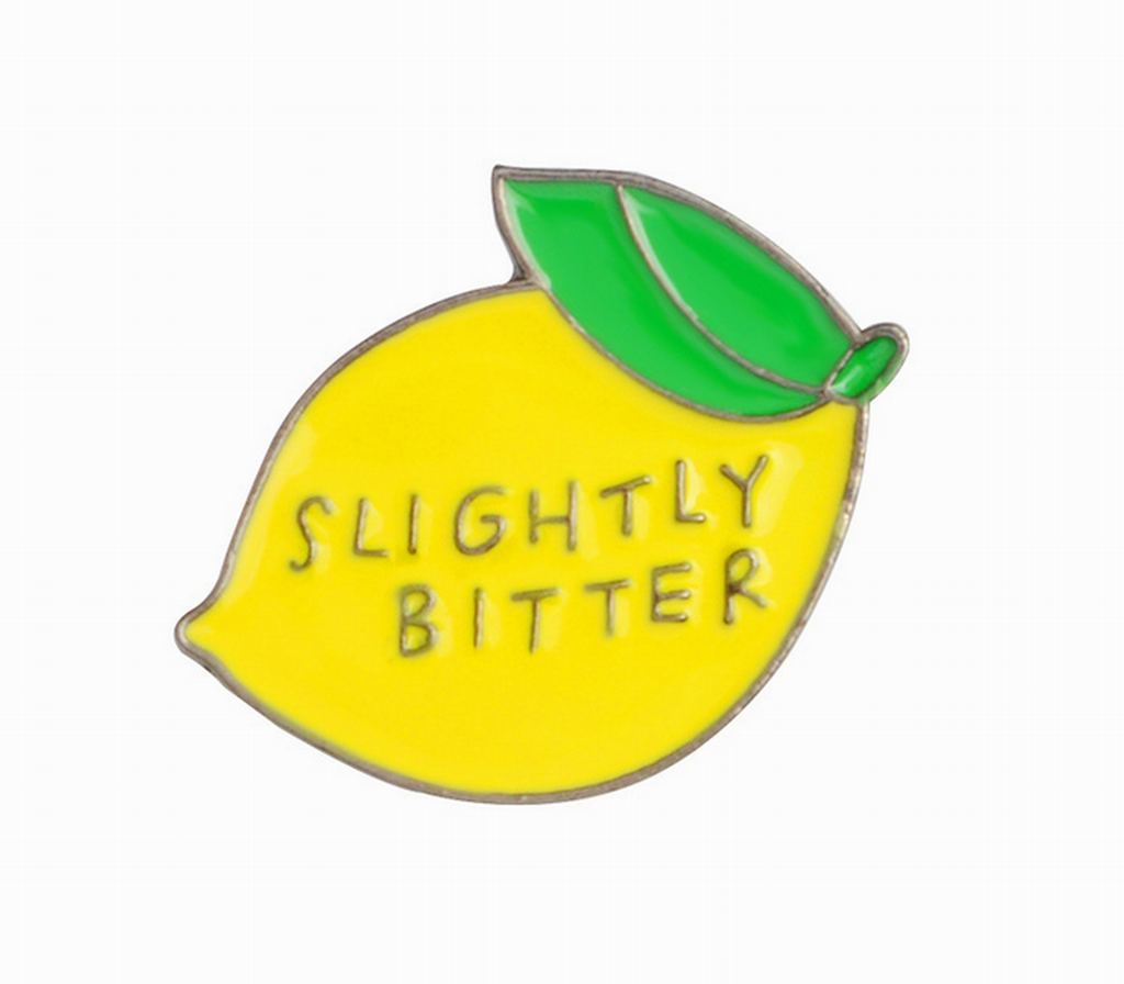 Slightly Bitter Lapel Pin, Enamel Pin, Badge Pin