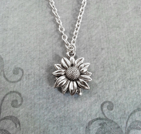 sunflower necklace, bridesmaid gift