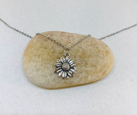 Sunflower Necklace, Flower Necklace