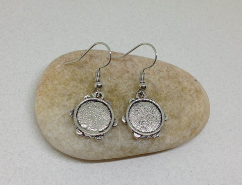 Tambourine Earrings, Musical Teacher Gift