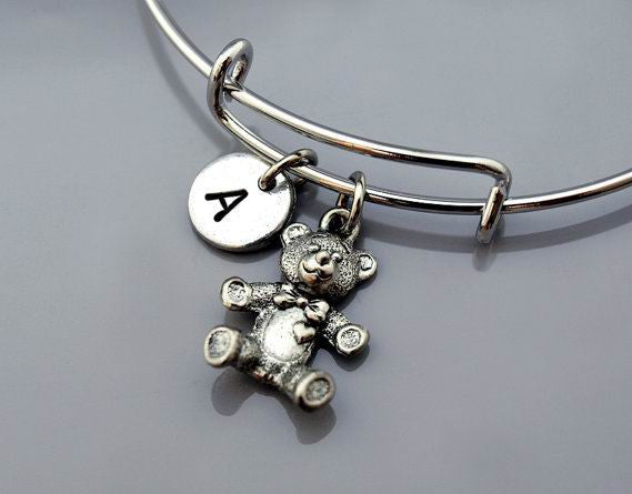 Teddy Bear charm Bangle