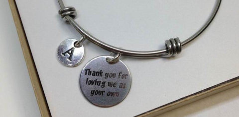 Adoption Stainless Steel Charm Bangle