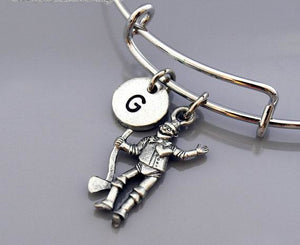 Tin Man Story Charm Bangle Bracelet