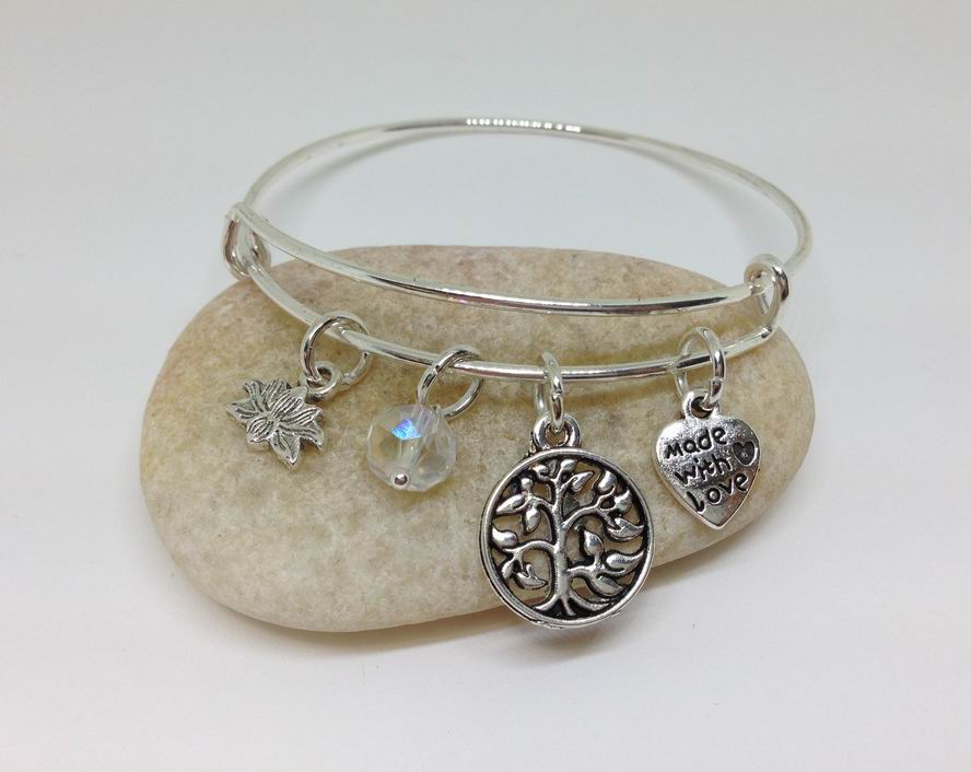 Family Tree Of Life charm bracelet