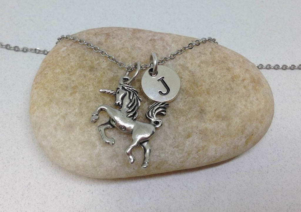 Unicorn Charm Personalized Necklace