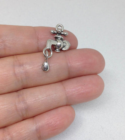 Water Faucet Charms Gold and Silver Colors