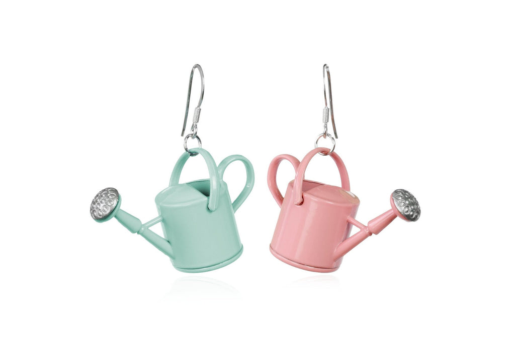 watering can earrings funky novelty gift gardener