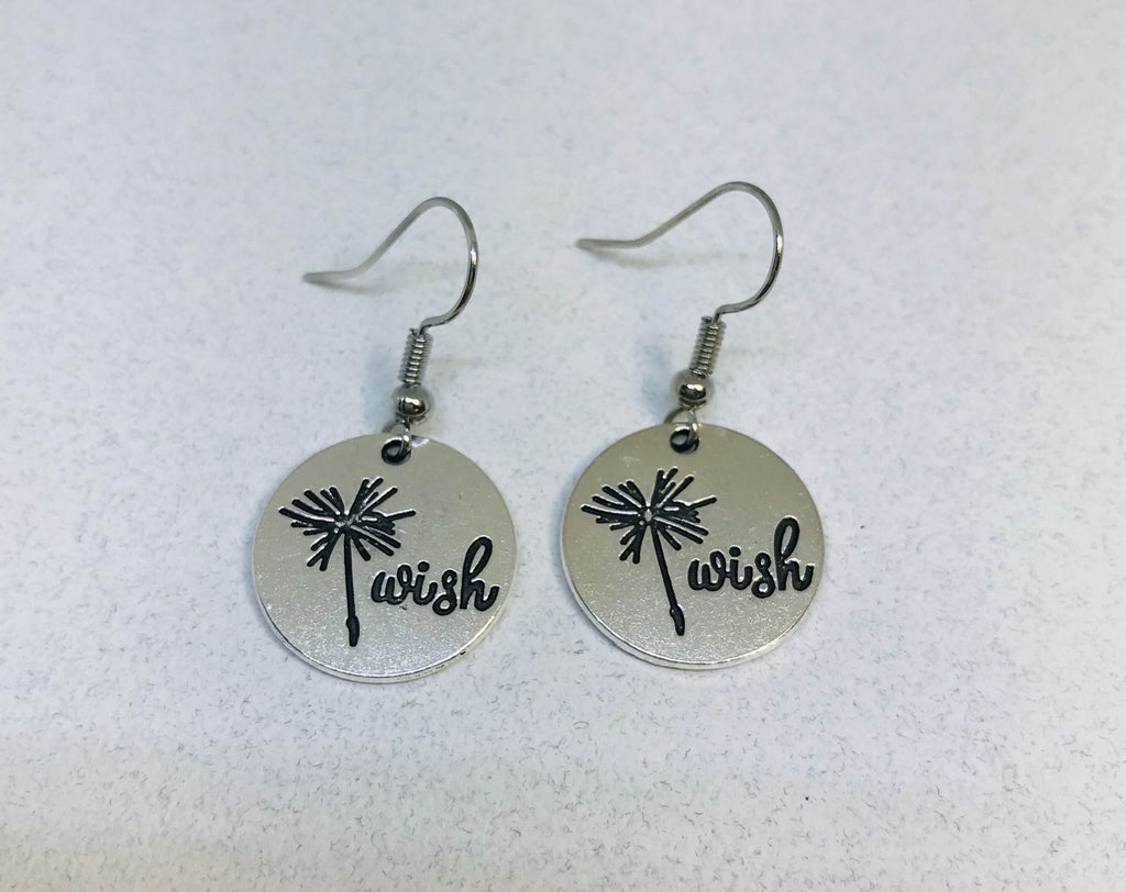 Dandelion Earrings, Wish Earrings