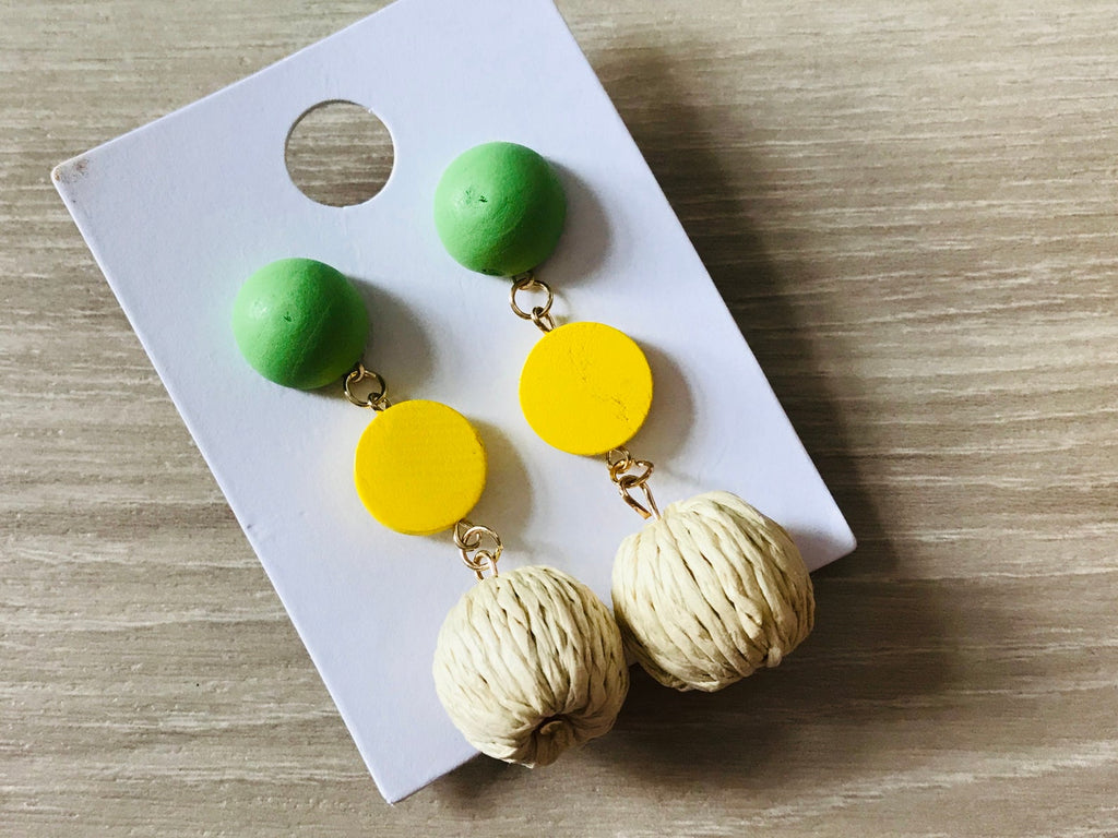 Woven Braided Dangle Earrings