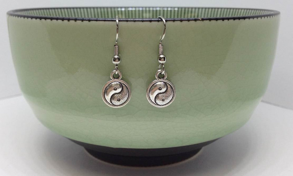 Ying Yang Charm Earrings