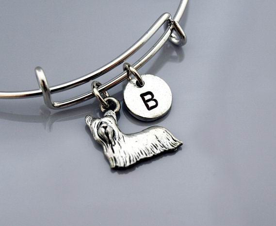 Yorkshire terrier charm bangle