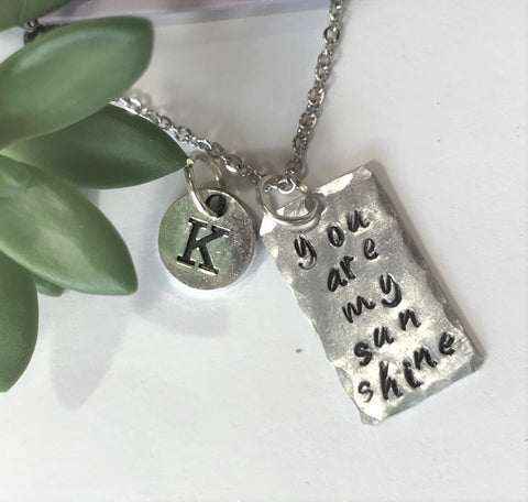 You Are My Sunshine Charm Necklace - Mother Daughter Best Friend Jewelry