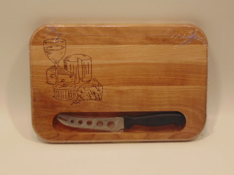 Catskill Craftsmen Cutting Boards Cheese Board w/ Knife