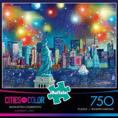 Buffalo Games Cities in Color Puzzle - Manhattan Celebration