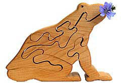 Wild Apples Wooden Frog Puzzle