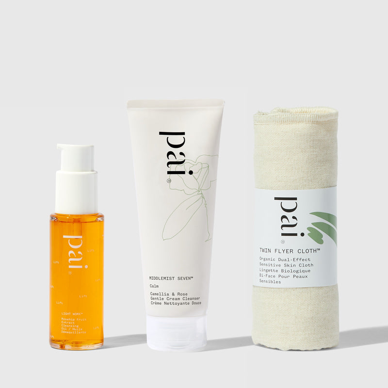 Pai Skincare Bundle Travel Size Double Cleanse Cream and Oil Cleanser
