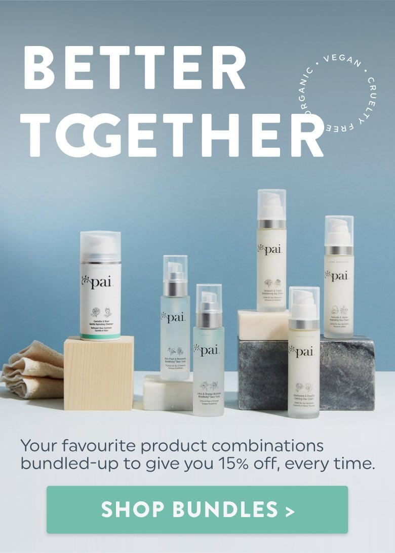 Your favourite product combinations bundled-up to give you 15% off, every time.