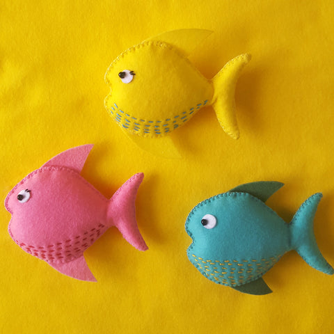 Fish with running stitch