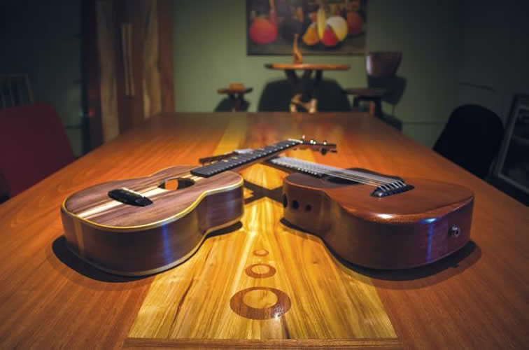 Gnarled Tree Trunks and Handmade Ukuleles