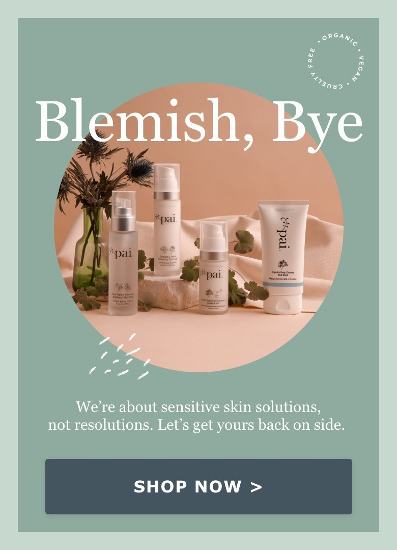 We're about sensitive skin solutions, not resolutions.  Let's get yours back on side.