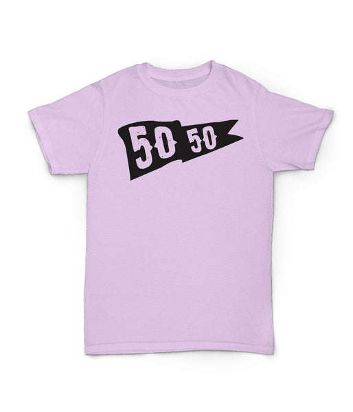 50/50 Flag Tee in Pink