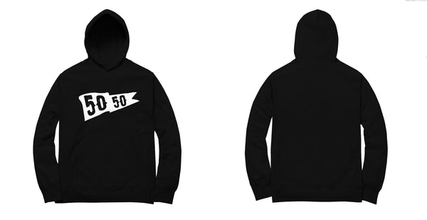 50/50 Flag Fleece Pullover in Black