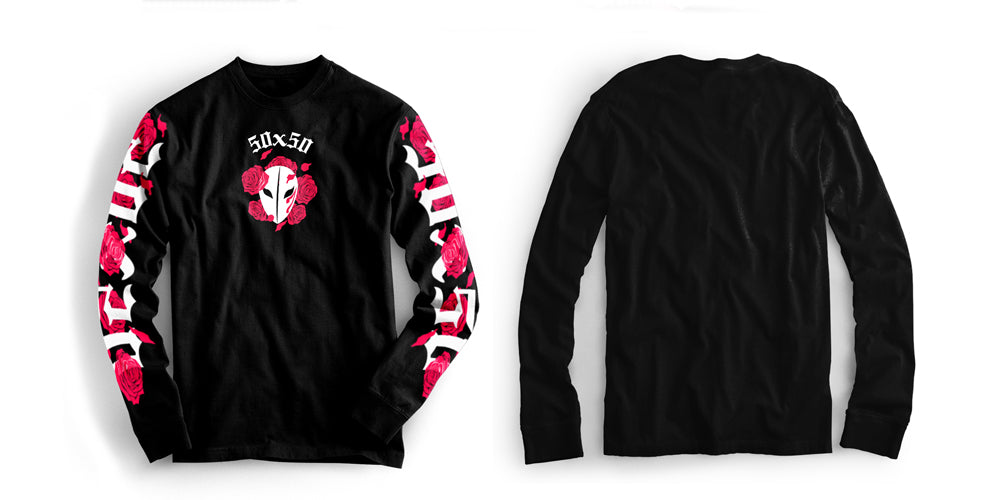 Bloody Rose Long Sleeve in Black