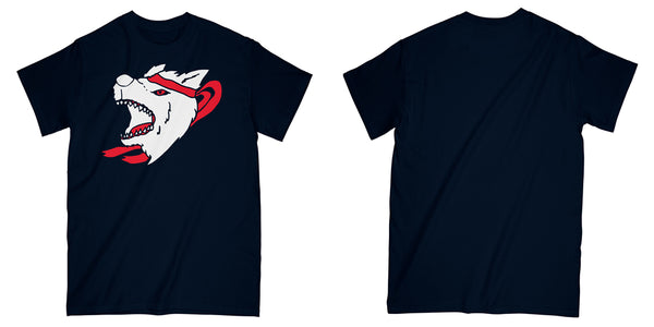 Wolf Tee in Navy