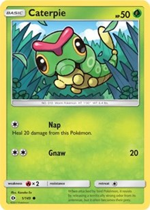 Caterpie (Reverse) - SM Base Set (#1)