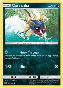Carvanha (Reverse) - SM Base Set (#81)