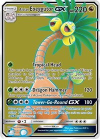Alolan Exeggutor GX (Full Art) - SM Crimson Invasion (#107)