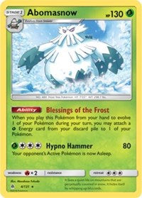 Abomasnow (Reverse) - SM Forbidden Light (#4)