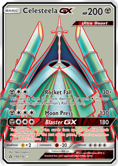 Celesteela GX (Full Art) - SM Ultra Prism (#144)
