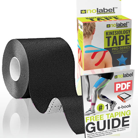 NO LABEL Kinesiology Tape 5m Uncut - Pro Muscle Sports Tape | 5m Medical Tape