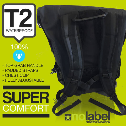 T2 Waterproof Transition Rucksack - Black/Green