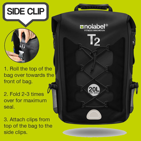 T2 Waterproof Transition Rucksack - Black / Grey