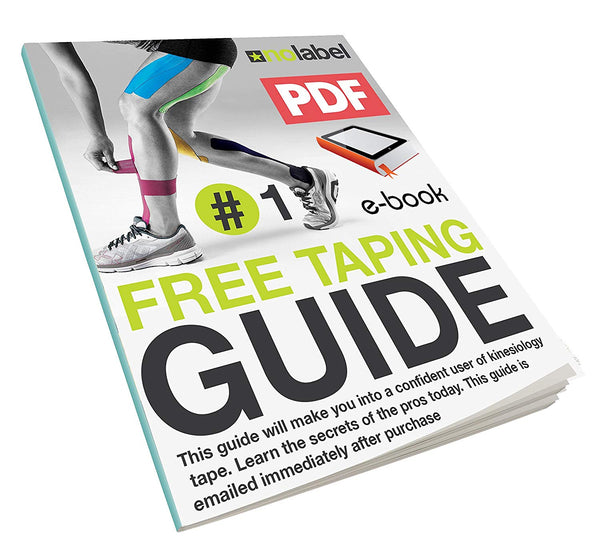 Pre Cut Kinesiology Tape - Pre-Cut Sport Tapes Strapping Muscle Sports Support | Pro 5m Medical Roll No Label H20 20 x Precut Waterproof Athletic Physio Muscles Strips | FREE PDF Ebook Taping Guide