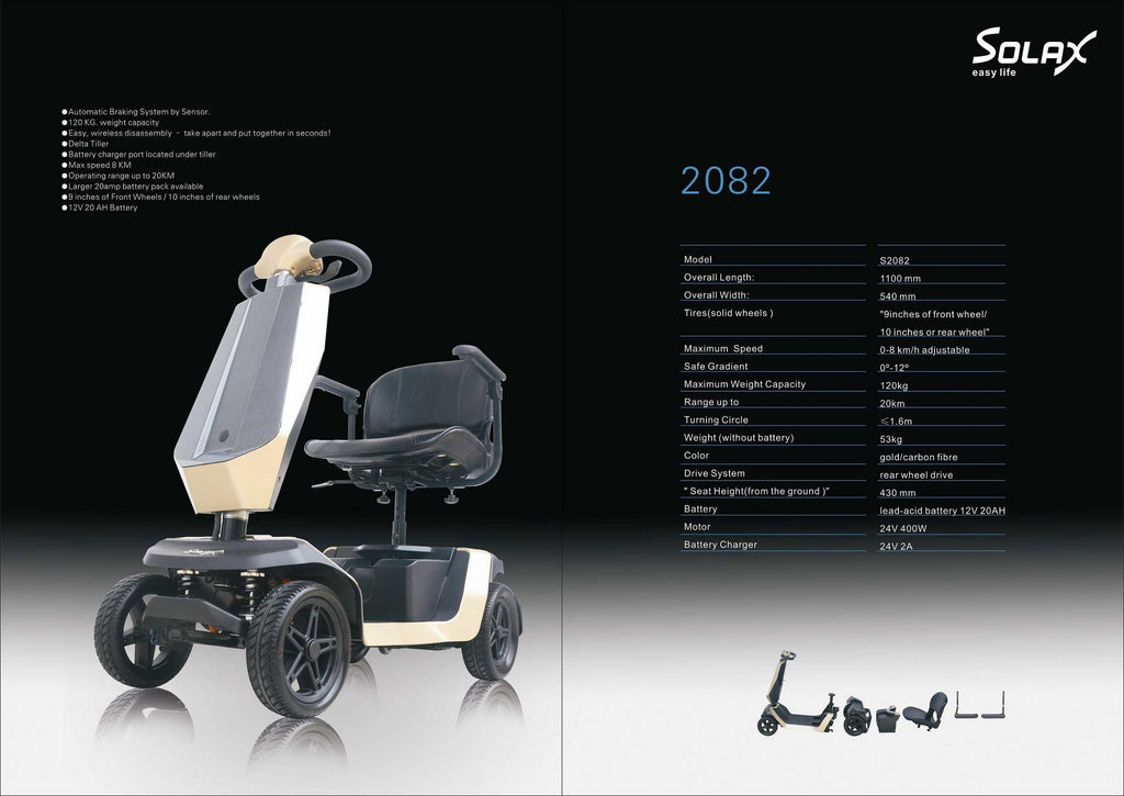 Solax S2082 Mobility Scooter with Automatic Emergency Brakes