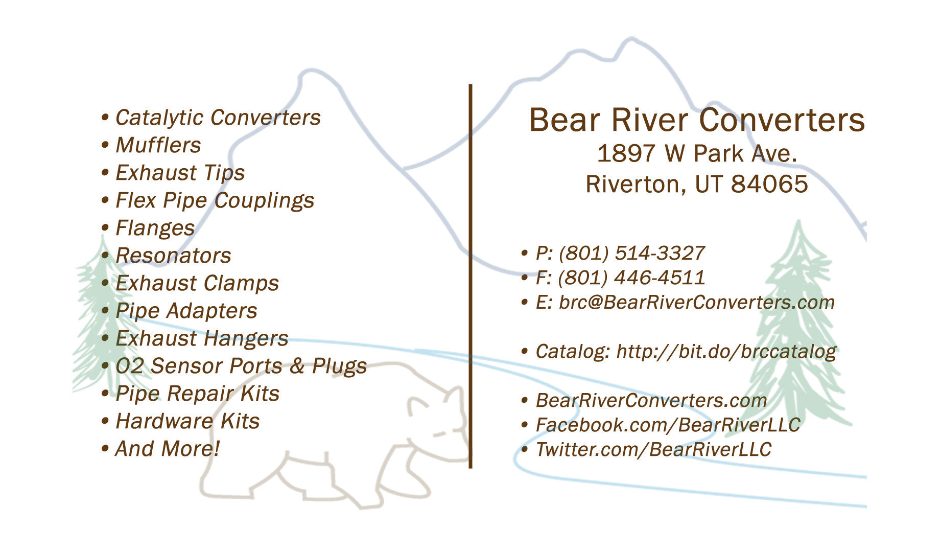 Bear River Converters - Worldwide Wholesale Exhaust Distributor