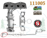 111005 Direct Fit Catalytic Converter Manifold PO420 Bank #1 for Toyota Solara Camry 2.4L