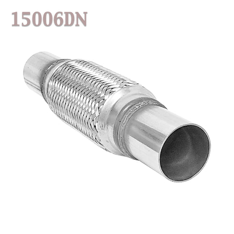 "1.5 (1 1/2 in.)x 6 x 10"" Flex Pipe Exhaust Coupling Quality Stainless Heavy Duty"