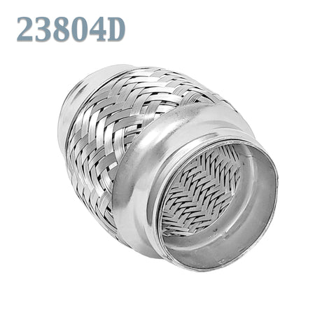 "2.375 (2 3/8 in.) x 4"" Flex Pipe Exhaust Coupling Quality Stainless Heavy Duty"