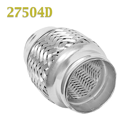 "2.75 (2 3/4 in.) x 4"" Flex Pipe Exhaust Coupling Quality Stainless Heavy Duty"