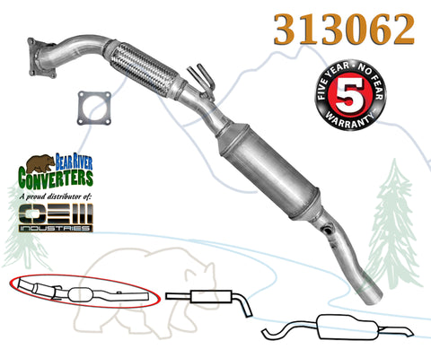 313062 Direct Fit Catalytic Converter PO420 Bank #1 for Volkswagen Beetle Golf Jetta 2.0L